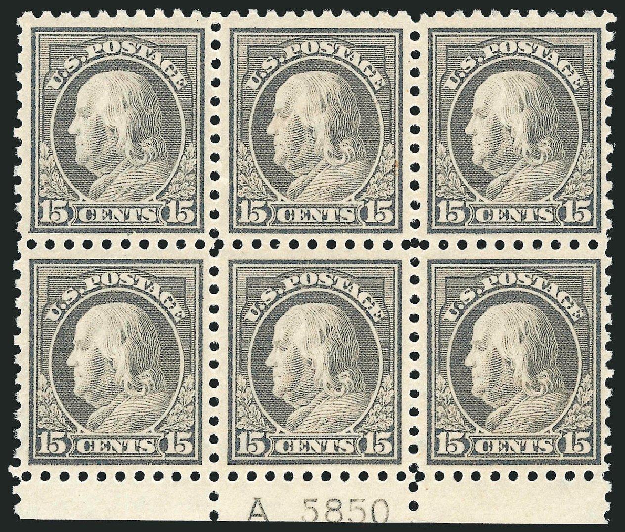 US Stamp Values Scott # 437 - 1914 15c Franklin Perf 10. Robert Siegel Auction Galleries, Jul 2014, Sale 1077, Lot 269
