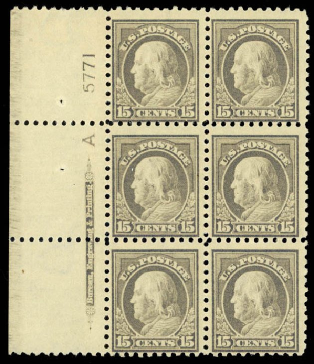Costs of US Stamp Scott Catalog 437: 1914 15c Franklin Perf 10. Daniel Kelleher Auctions, Jan 2015, Sale 663, Lot 1790