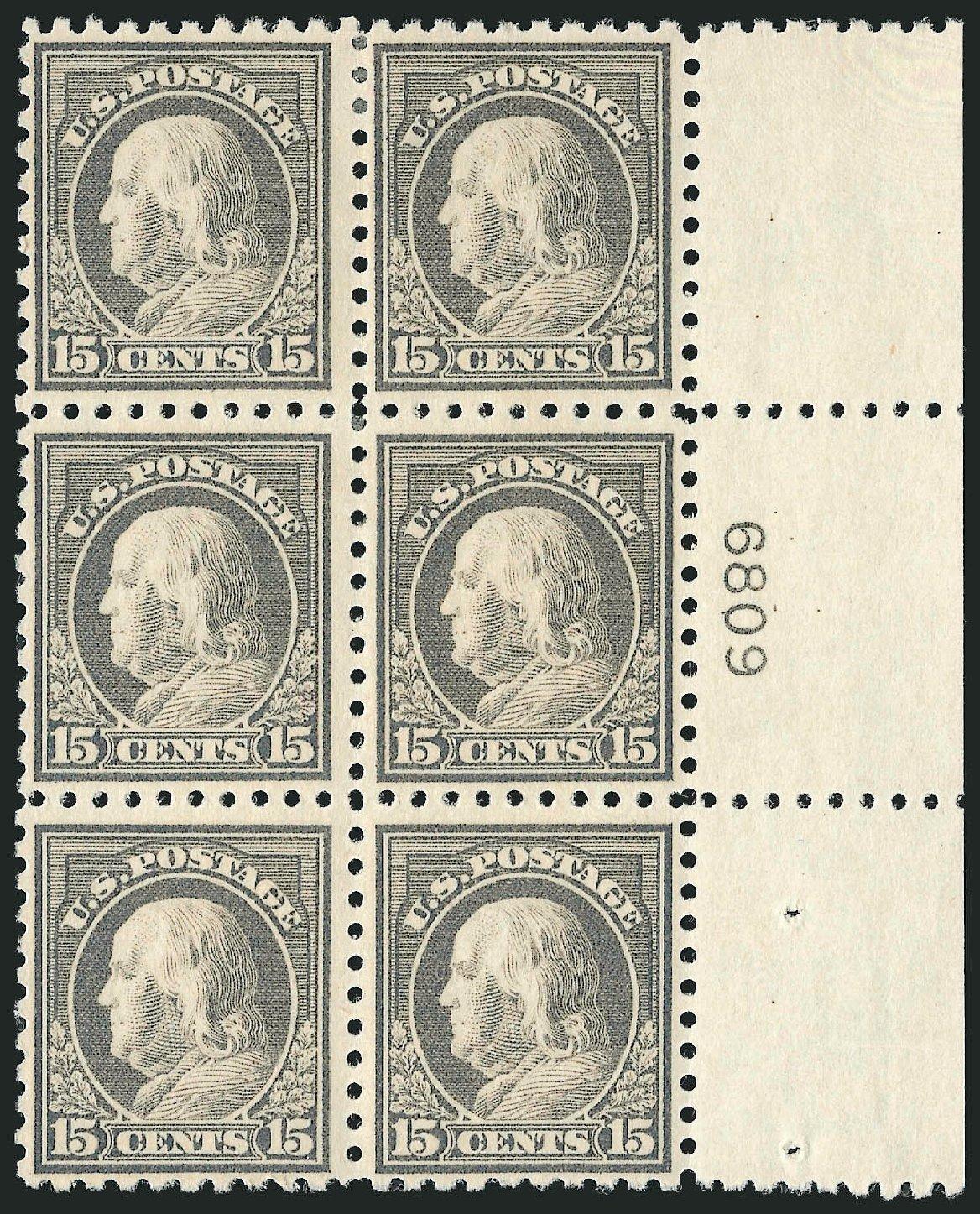 US Stamps Prices Scott Catalogue 437: 1914 15c Franklin Perf 10. Robert Siegel Auction Galleries, Jul 2014, Sale 1077, Lot 270