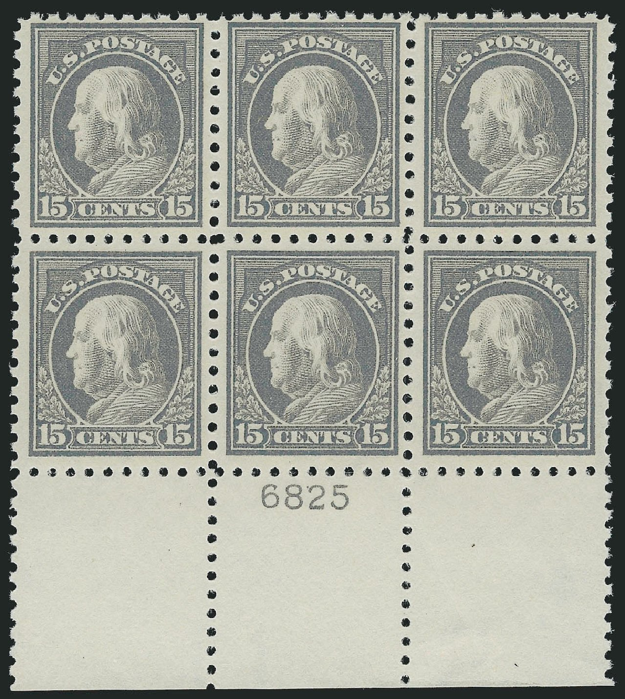 US Stamp Prices Scott 437: 1914 15c Franklin Perf 10. Robert Siegel Auction Galleries, Mar 2014, Sale 1067, Lot 1525