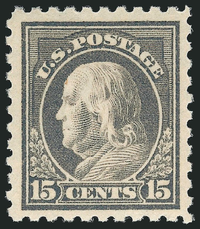 Prices of US Stamps Scott #437 - 15c 1914 Franklin Perf 10. Robert Siegel Auction Galleries, May 2013, Sale 1044, Lot 276