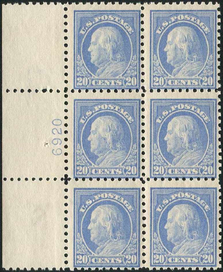 US Stamp Price Scott Catalog # 438: 20c 1914 Franklin Perf 10. Regency-Superior, Aug 2015, Sale 112, Lot 1343
