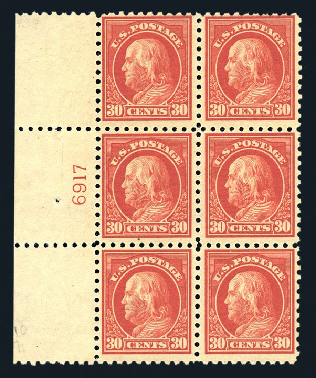 Price of US Stamp Scott #439 - 30c 1914 Franklin Perf 10. Harmer-Schau Auction Galleries, Aug 2015, Sale 106, Lot 1817