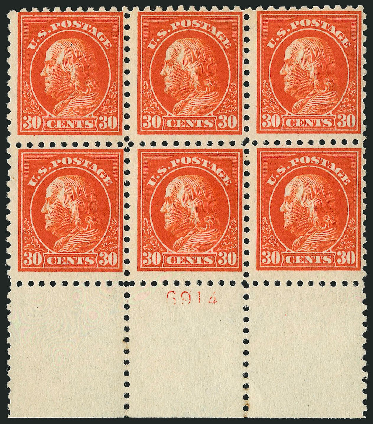 Cost of US Stamp Scott Catalogue # 439: 30c 1914 Franklin Perf 10. Robert Siegel Auction Galleries, Apr 2015, Sale 1096, Lot 683