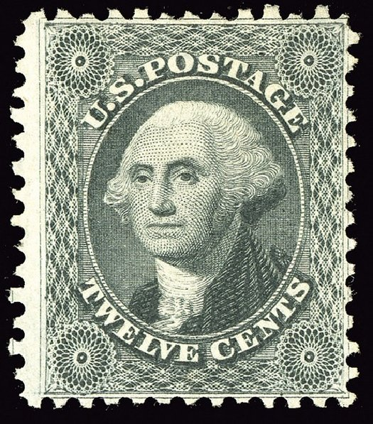 Cost of US Stamp Scott Cat. #44: 1875 12c Washington Reprint. Spink Shreves Galleries, May 2014, Sale 148, Lot 67