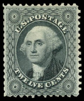 Value of US Stamps Scott Cat. # 44 - 12c 1875 Washington Reprint. Daniel Kelleher Auctions, Aug 2015, Sale 672, Lot 2238