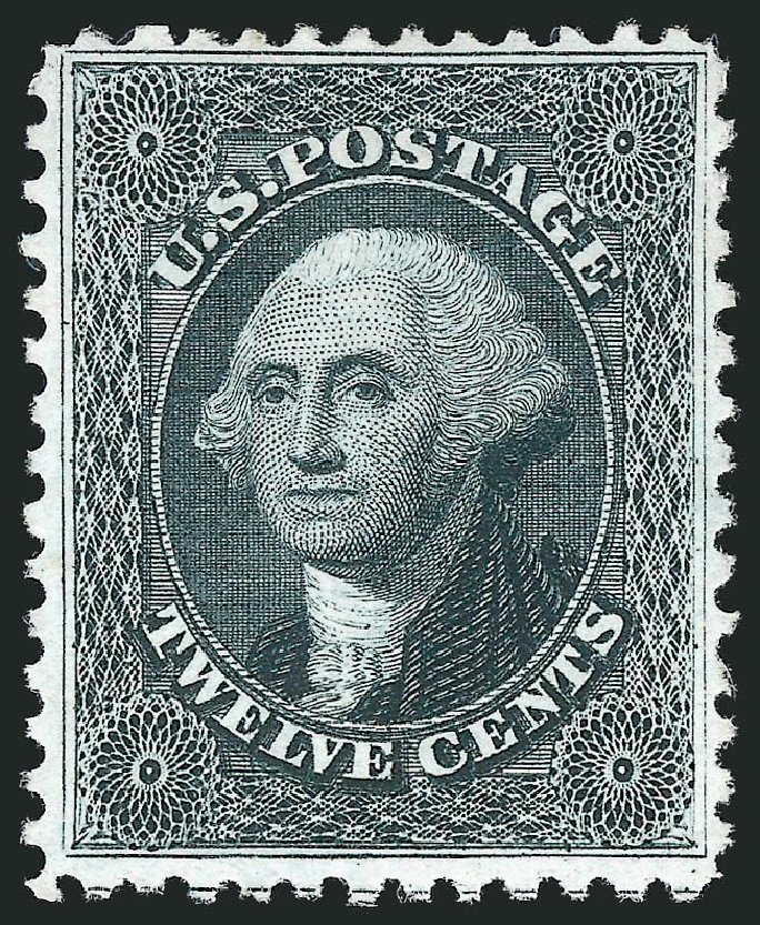 Values of US Stamps Scott Catalog #44: 12c 1875 Washington Reprint. Robert Siegel Auction Galleries, Jun 2015, Sale 1100, Lot 8