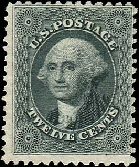 US Stamp Values Scott Cat. # 44: 12c 1875 Washington Reprint. Regency-Superior, Nov 2014, Sale 108, Lot 139