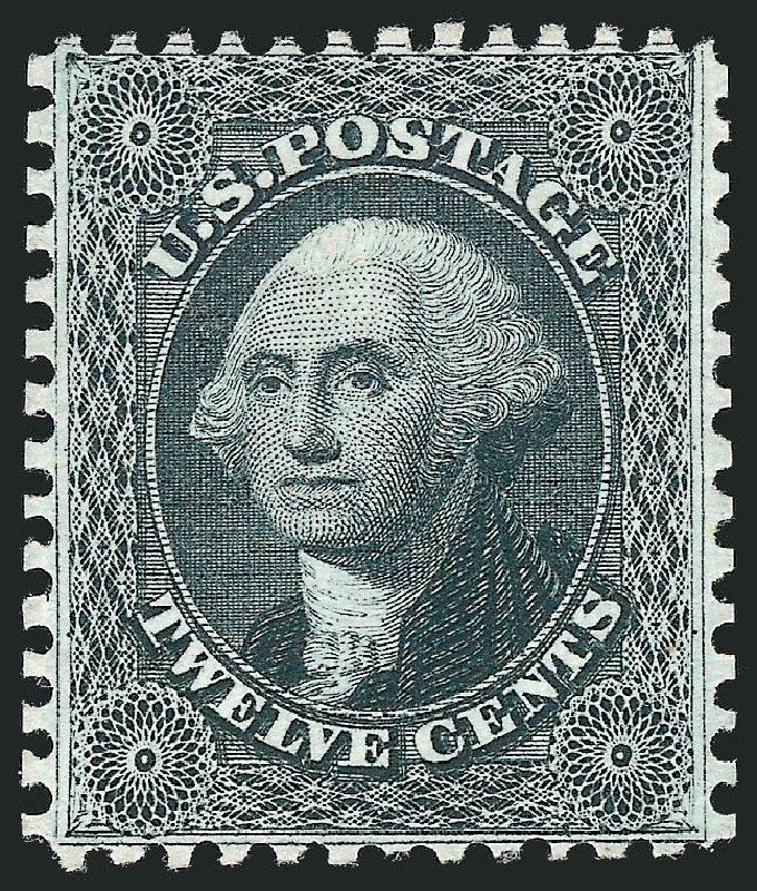 US Stamp Price Scott # 44: 1875 12c Washington Reprint. Robert Siegel Auction Galleries, Mar 2013, Sale 1040, Lot 1279