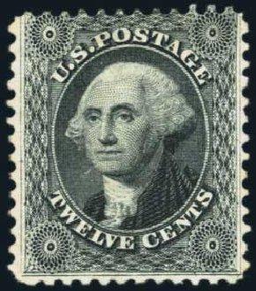 US Stamps Prices Scott Catalog # 44 - 12c 1875 Washington Reprint. Harmer-Schau Auction Galleries, Jan 2014, Sale 100, Lot 445