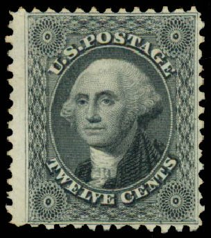 Cost of US Stamp Scott Cat. 44: 1875 12c Washington Reprint. Daniel Kelleher Auctions, May 2015, Sale 669, Lot 2483