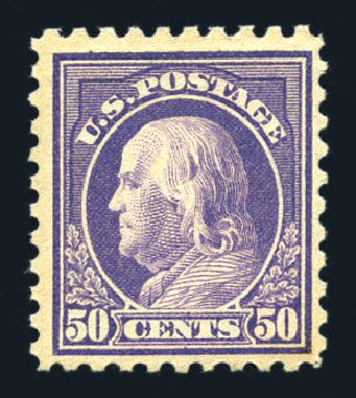 Values of US Stamp Scott Cat. #440 - 1915 50c Franklin Perf 10. Harmer-Schau Auction Galleries, Aug 2015, Sale 106, Lot 1819