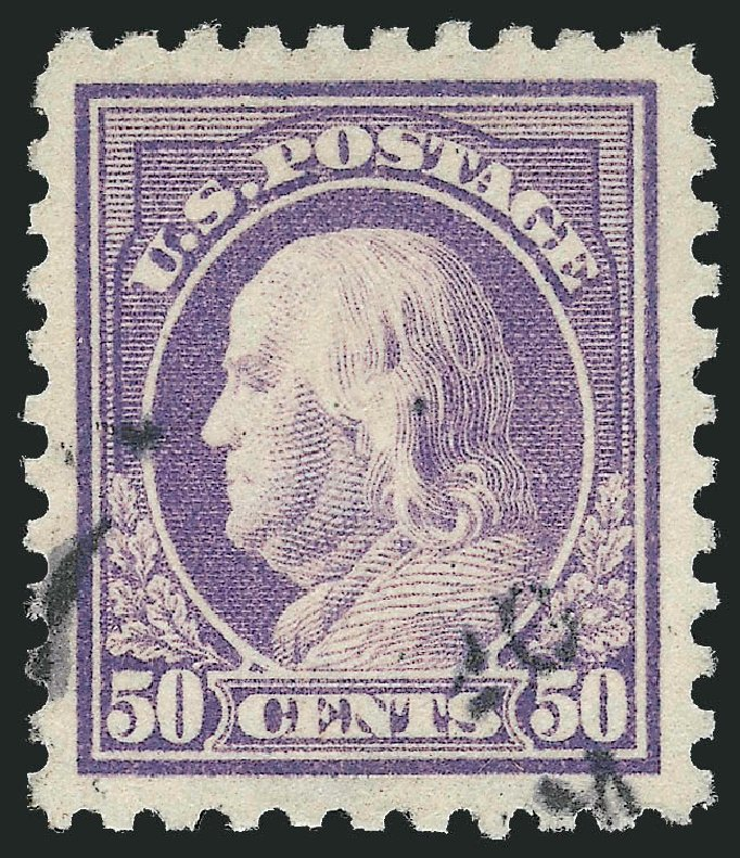 Cost of US Stamps Scott Catalog #440 - 50c 1915 Franklin Perf 10. Robert Siegel Auction Galleries, Feb 2015, Sale 1093, Lot 314