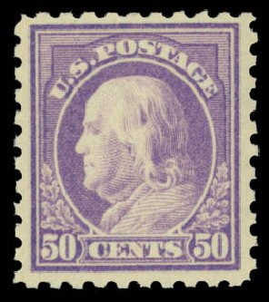 Prices of US Stamp Scott #440: 50c 1915 Franklin Perf 10. Daniel Kelleher Auctions, May 2015, Sale 669, Lot 3015