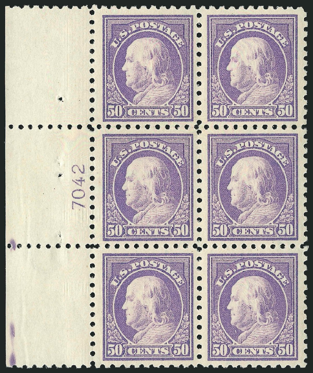 Value of US Stamp Scott # 440 - 50c 1915 Franklin Perf 10. Robert Siegel Auction Galleries, Feb 2015, Sale 1093, Lot 315
