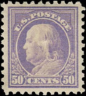 Costs of US Stamp Scott Catalog # 440 - 50c 1915 Franklin Perf 10. Regency-Superior, Aug 2015, Sale 112, Lot 822