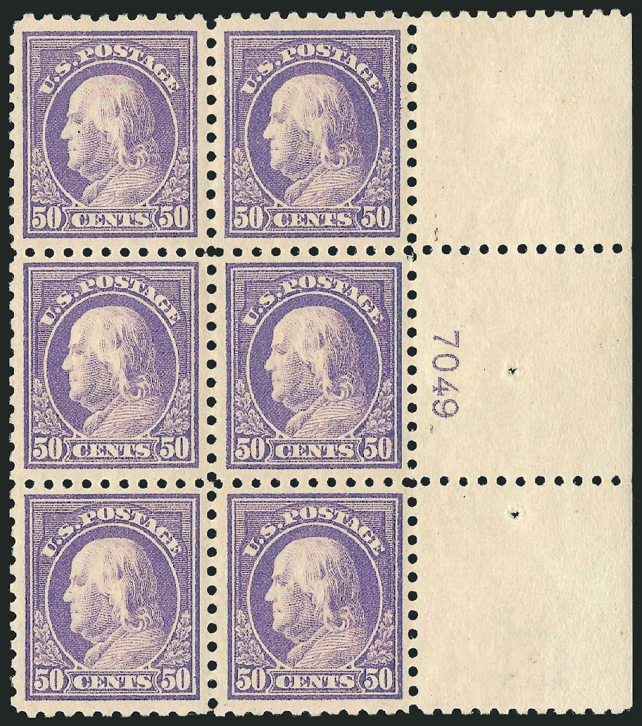 Costs of US Stamp Scott Catalogue 440: 1915 50c Franklin Perf 10. Robert Siegel Auction Galleries, Feb 2015, Sale 1093, Lot 316