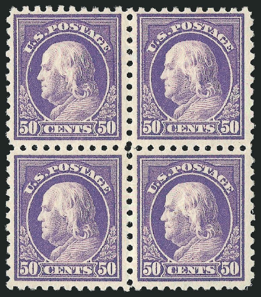 US Stamps Value Scott # 440 - 50c 1915 Franklin Perf 10. Robert Siegel Auction Galleries, Apr 2015, Sale 1096, Lot 686