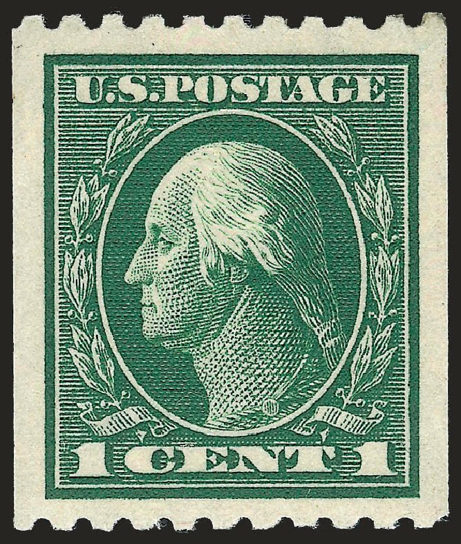 Prices of US Stamp Scott Cat. #441: 1c 1914 Washington Coil Perf 10 Horizontally. Robert Siegel Auction Galleries, Sep 2009, Sale 968B, Lot 560