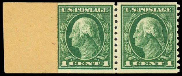 Cost of US Stamps Scott Catalog #443 - 1914 1c Washington Coil Perf 10 Vertically. Daniel Kelleher Auctions, May 2015, Sale 669, Lot 3017