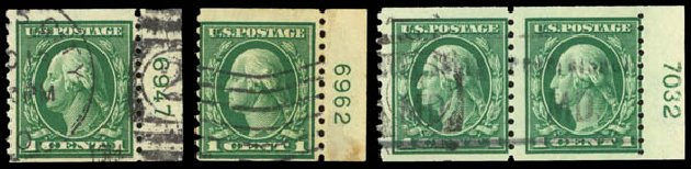 US Stamps Prices Scott Catalog #443: 1914 1c Washington Coil Perf 10 Vertically. Daniel Kelleher Auctions, Sep 2014, Sale 655, Lot 491