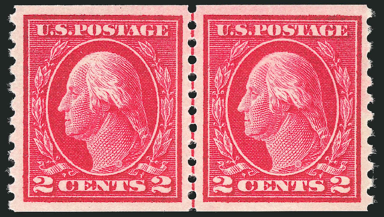 US Stamps Price Scott Catalogue 444 - 2c 1914 Washington Coil Perf 10 Vertically. Robert Siegel Auction Galleries, Feb 2015, Sale 1092, Lot 1317
