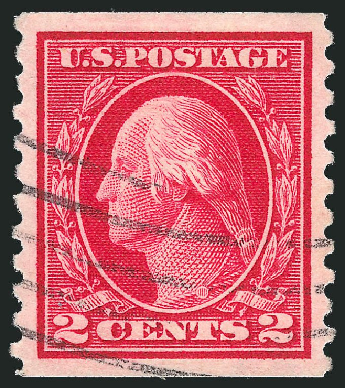 US Stamp Prices Scott Catalogue #444 - 2c 1914 Washington Coil Perf 10 Vertically. Robert Siegel Auction Galleries, Feb 2015, Sale 1093, Lot 320