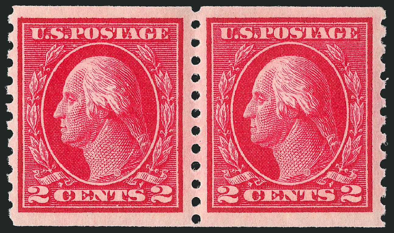 Cost of US Stamp Scott #444 - 1914 2c Washington Coil Perf 10 Vertically. Robert Siegel Auction Galleries, Apr 2015, Sale 1096, Lot 690