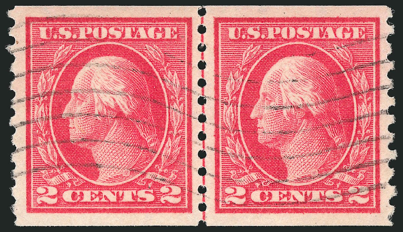 Price of US Stamps Scott #444: 1914 2c Washington Coil Perf 10 Vertically. Robert Siegel Auction Galleries, Feb 2015, Sale 1093, Lot 321