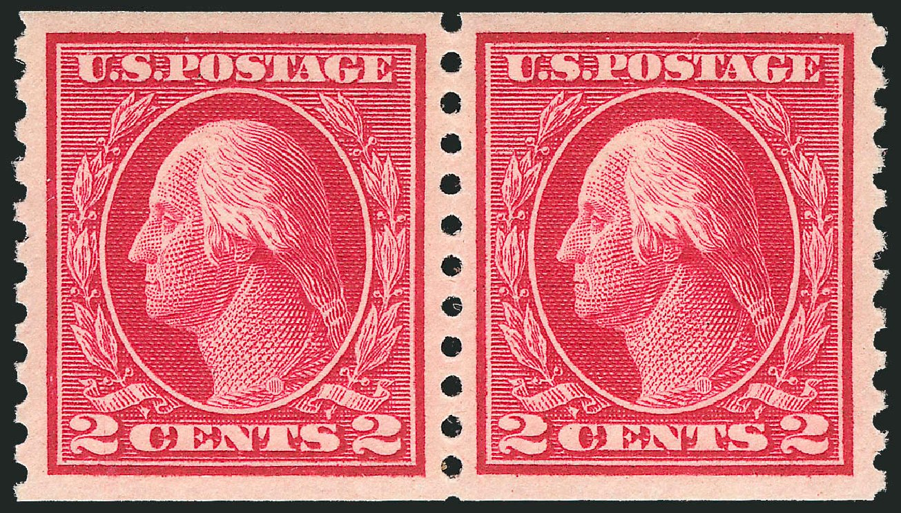 US Stamp Price Scott Catalogue # 444: 2c 1914 Washington Coil Perf 10 Vertically. Robert Siegel Auction Galleries, Jul 2015, Sale 1107, Lot 471
