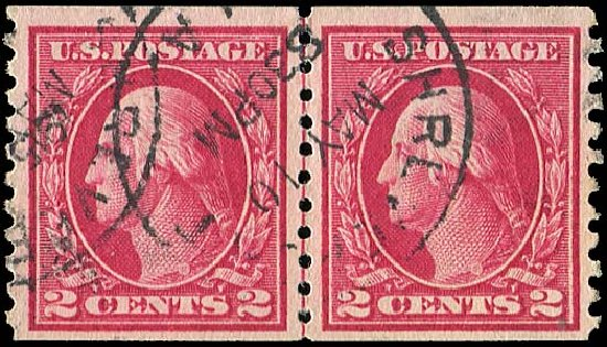 Cost of US Stamp Scott Catalog #444: 2c 1914 Washington Coil Perf 10 Vertically. Regency-Superior, Aug 2015, Sale 112, Lot 826