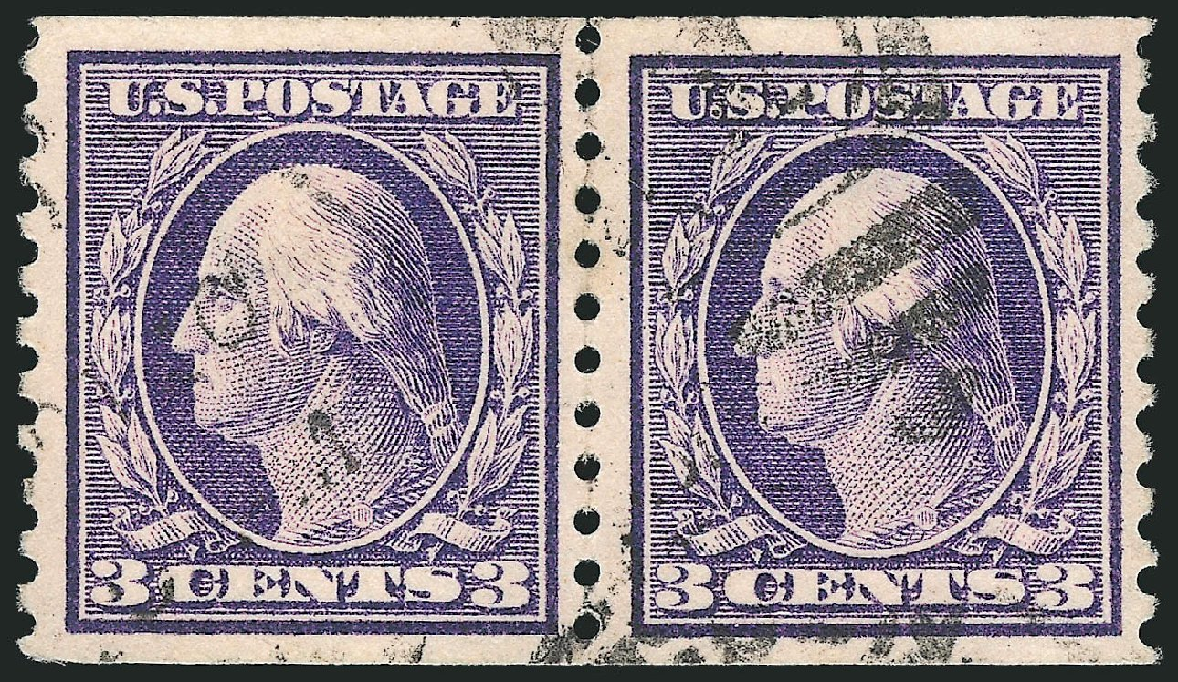 Cost of US Stamp Scott #445 - 1914 3c Washington Coil Perf 10 Vertically. Robert Siegel Auction Galleries, Apr 2015, Sale 1096, Lot 692