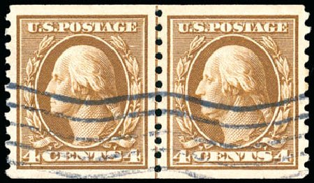Value of US Stamps Scott Cat. # 446: 4c 1915 Washington Coil Perf 10 Vertically. Schuyler J. Rumsey Philatelic Auctions, Apr 2015, Sale 60, Lot 2395