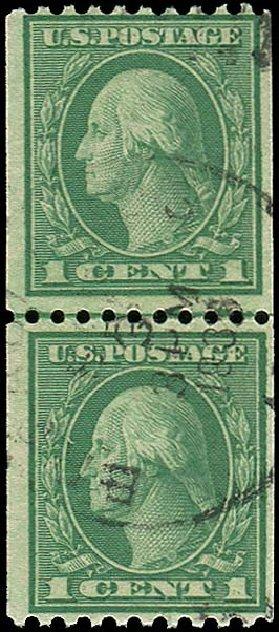 Value of US Stamp Scott Catalogue # 448: 1c 1915 Washington Coil Perf 10 Horizontally. Regency-Superior, Jan 2015, Sale 109, Lot 1238