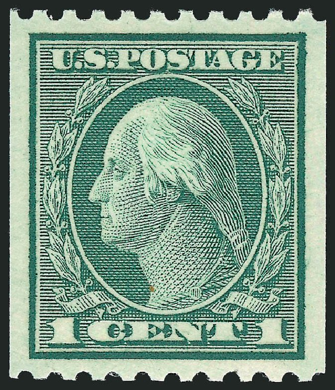 Prices of US Stamps Scott # 448: 1c 1915 Washington Coil Perf 10 Horizontally. Robert Siegel Auction Galleries, Sep 2009, Sale 968B, Lot 580