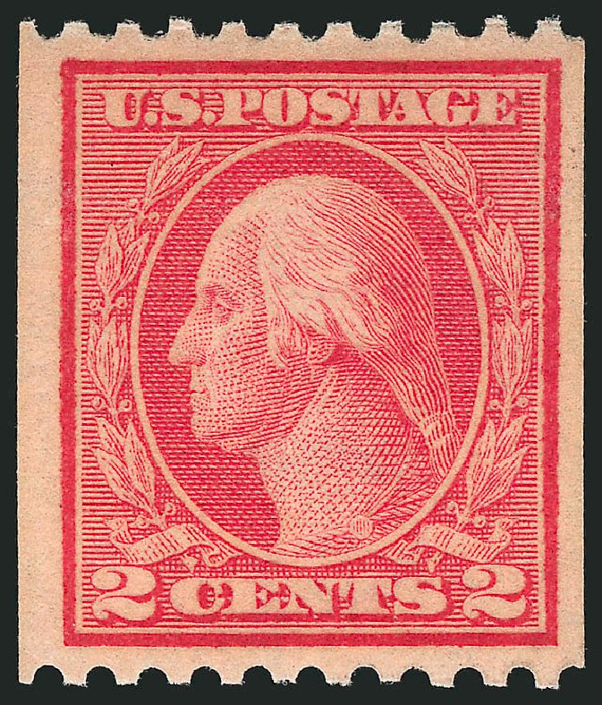 US Stamps Price Scott #449: 2c 1915 Washington Coil Perf 10 Horizontally. Robert Siegel Auction Galleries, Apr 2015, Sale 1096, Lot 697