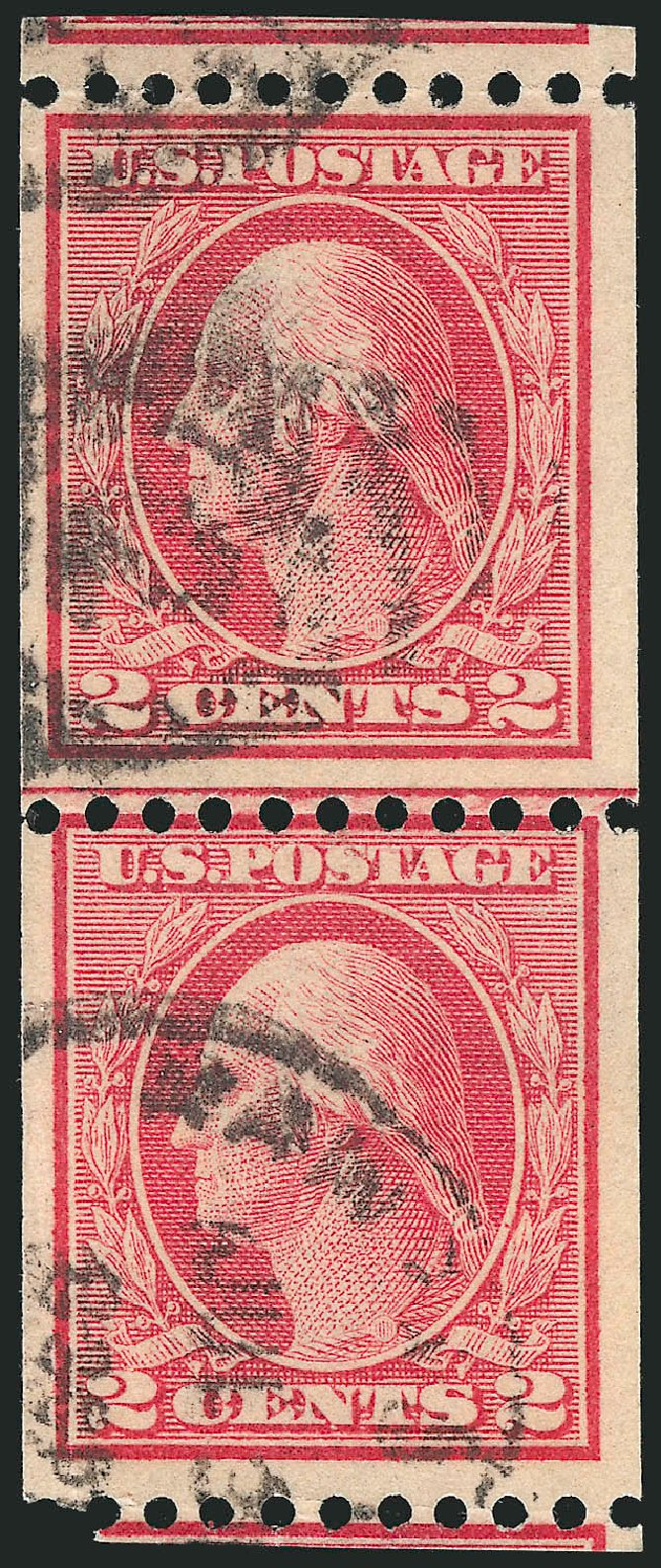 Prices of US Stamp Scott 449 - 2c 1915 Washington Coil Perf 10 Horizontally. Robert Siegel Auction Galleries, Feb 2015, Sale 1093, Lot 349