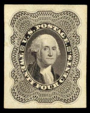 Cost of US Stamps Scott 45: 1875 24c Washington Reprint. Daniel Kelleher Auctions, Aug 2015, Sale 672, Lot 2239
