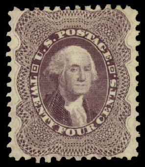 US Stamp Price Scott Catalogue 45: 1875 24c Washington Reprint. Daniel Kelleher Auctions, Aug 2015, Sale 672, Lot 2241