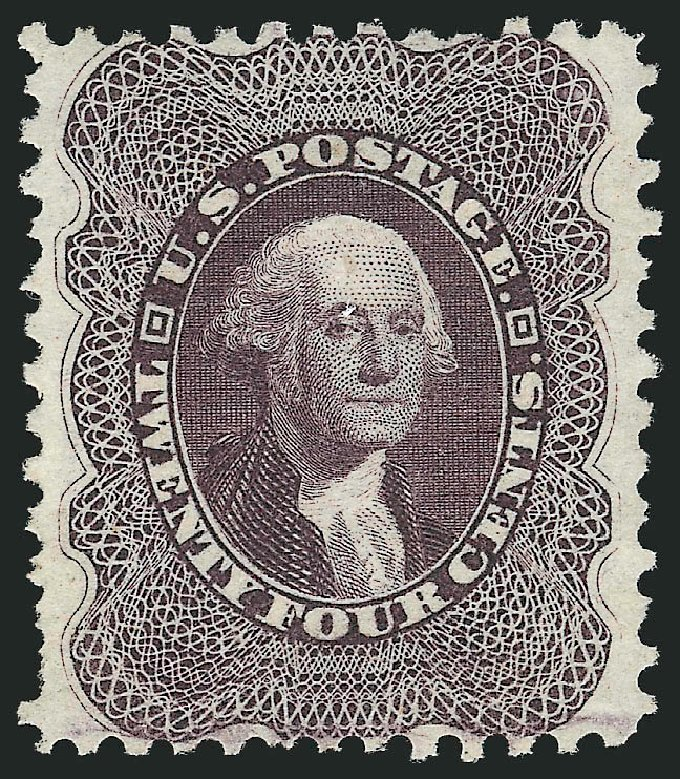 US Stamps Values Scott Cat. #45: 1875 24c Washington Reprint. Robert Siegel Auction Galleries, Apr 2015, Sale 1096, Lot 101