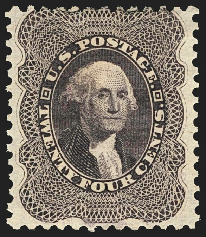 US Stamps Price Scott Catalogue #45: 24c 1875 Washington Reprint. Robert Siegel Auction Galleries, Jul 2015, Sale 1107, Lot 114
