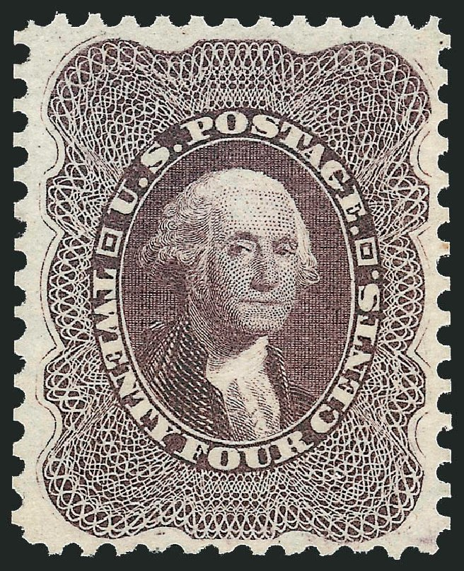 Cost of US Stamps Scott #45: 24c 1875 Washington Reprint. Robert Siegel Auction Galleries, Dec 2014, Sale 1090, Lot 1185