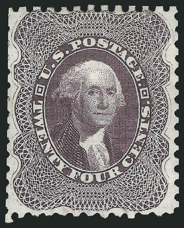 Price of US Stamp Scott Cat. 45: 24c 1875 Washington Reprint. Robert Siegel Auction Galleries, Dec 2014, Sale 1090, Lot 1186