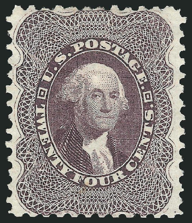 US Stamp Value Scott Catalogue # 45 - 24c 1875 Washington Reprint. Robert Siegel Auction Galleries, Feb 2015, Sale 1092, Lot 1046