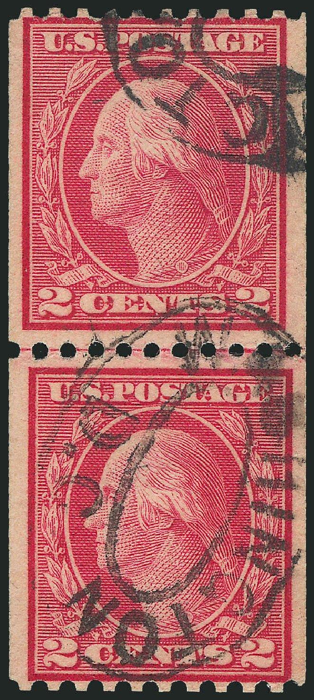 US Stamps Prices Scott Catalogue #450 - 1915 2c Washington Coil Perf 10 Horizontally. Robert Siegel Auction Galleries, Dec 2014, Sale 1090, Lot 1519