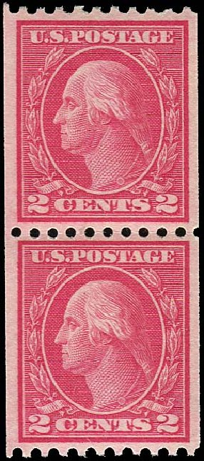 Costs of US Stamp Scott Cat. # 450: 2c 1915 Washington Coil Perf 10 Horizontally. Regency-Superior, Jan 2015, Sale 109, Lot 1243