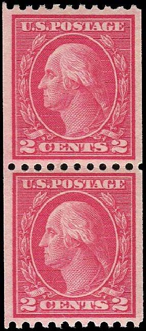 Costs of US Stamp Scott Cat. # 450: 2c 1915 Washington Coil Perf 10 Horizontally. Regency-Superior, Jan 2015, Sale 109, Lot 1243