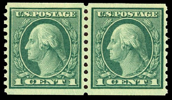 Price of US Stamps Scott Catalogue # 452 - 1914 1c Washington Coil Perf 10 Vertically. Daniel Kelleher Auctions, Dec 2012, Sale 633, Lot 799