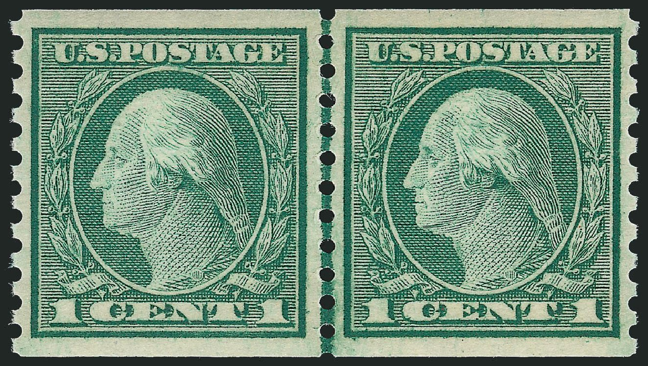 Prices of US Stamp Scott Catalogue #452 - 1c 1914 Washington Coil Perf 10 Vertically. Robert Siegel Auction Galleries, Dec 2013, Sale 1062, Lot 643