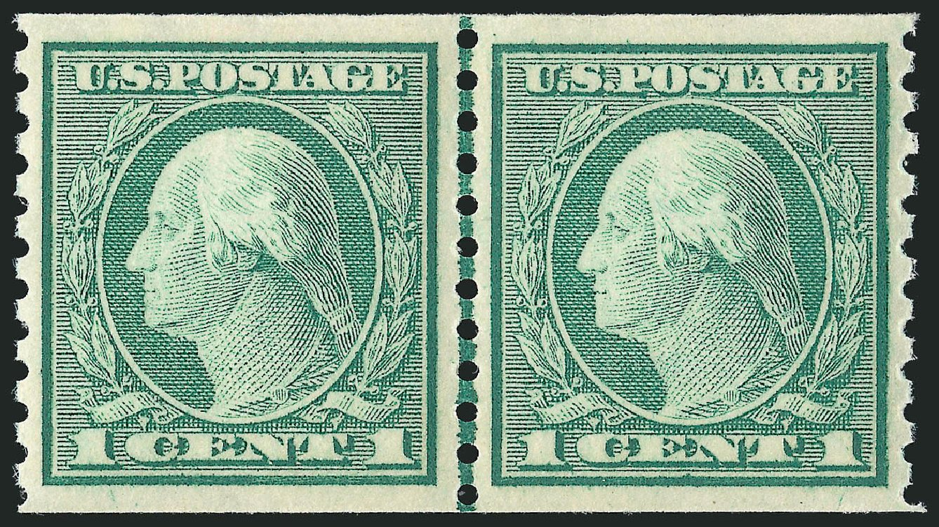 US Stamp Prices Scott Catalogue # 452: 1914 1c Washington Coil Perf 10 Vertically. Robert Siegel Auction Galleries, Feb 2015, Sale 1093, Lot 353